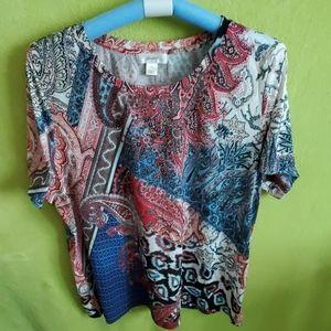 Cjbanks animal paisley print tshirt